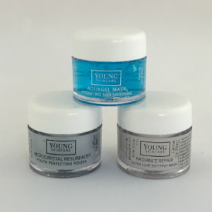 young skincare mini-mask trio